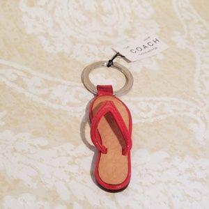 Coach Flip Flop Thong Sandal Keychain Key Fob